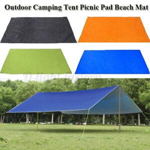 Portable-Camping-ent-arp-Awning-Sun-Shade-Rain-Shelter-Mat-Beach-Picnic-Pad