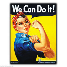 METAL SIGN WALL PLAQUE WE CAN DO IT! WW2 WAR PROPAGANDA poster art print picture