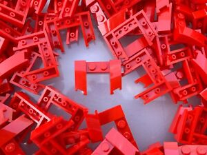 Lego 5 New Red Wedges 3 x 4 x 2//3 Cutout Pieces