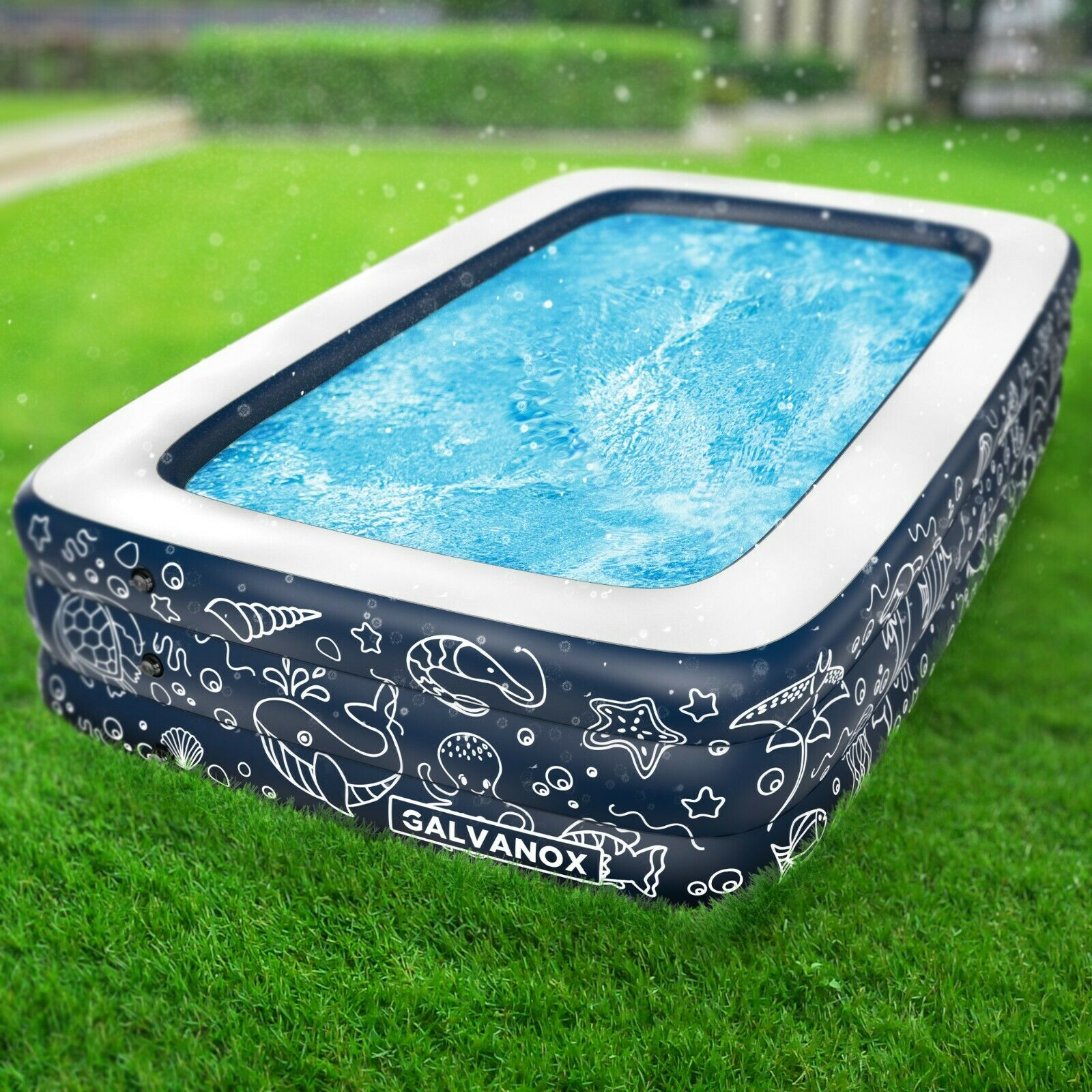 Image 21 - EXTRA-LARGE-Inflatable-Pool-Above-Ground-Swimming-Pool-for-Kiddie-Kids-22-034-Deep