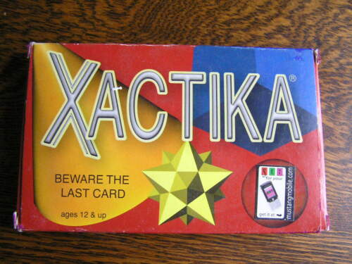 2002 SET Enterprises XACTIKA Bidding Card Game For 210 Players Ages 12+NIB!