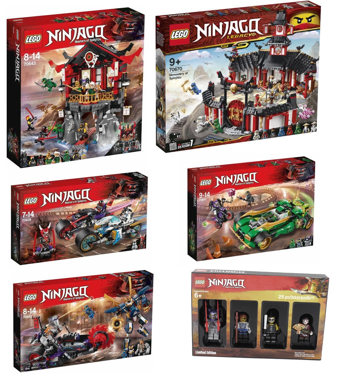 outlet in vendita LEGO Ninjago 6er Set 70643+70670+70641+70642+70639+ Limited edizione 5005257, NUOVO NUOVO NUOVO  il prezzo più basso