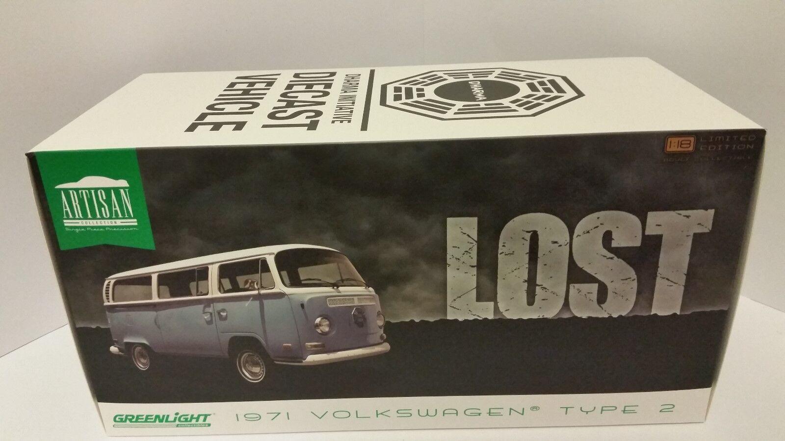 Greenlight lost volkswagen 1971 type 2 campervan 1 18th diecast