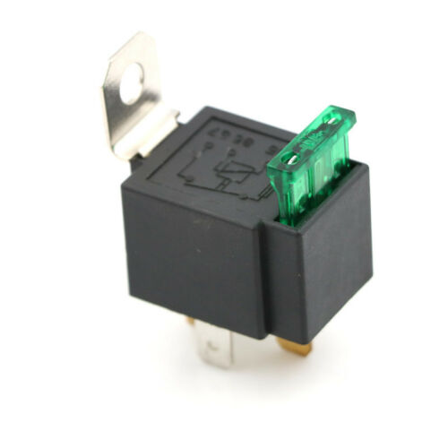 12V 4 Pin 30A Fused Relay With Bracket 12 Volt Normally Open On//Off ZX