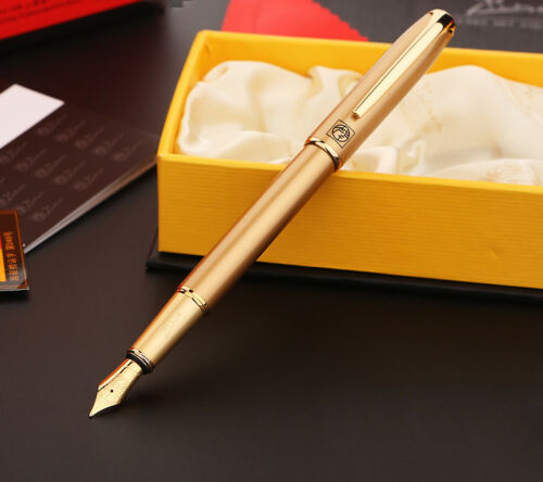 Picasso 916 Malage Golden Fountain Pen Classic Elegant Pen Office Gift Writing