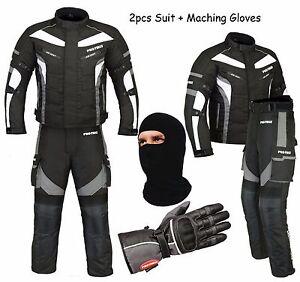 Profirst-Impermeabile-Moto-Tuta-Completo-Giacca-Pantaloni-Guanti-Tempesta-Cappa