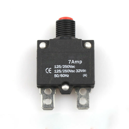 1PC 7A-10A Thermal Switch Push Button AC 125//250V DC 32V Thermal Circuit Breaker