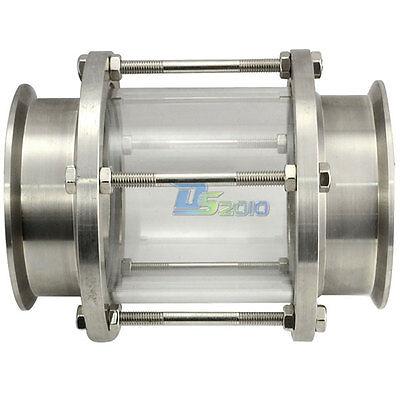"""Φ102 4/"""" Sanitary Weld Pipe with 115 MM Ferrule Flange SS304 fits 4/"""" Tri Clamp"""