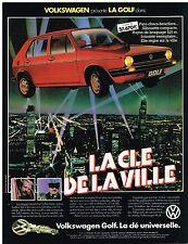 PUBLICITE ADVERTISING   1982   VOLKSWAGEN  LA GOLF