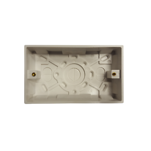 ELECTROLITE SURFACE MOUNTED DOUBLE 2 GANG PATTRESS BOX 25MM
