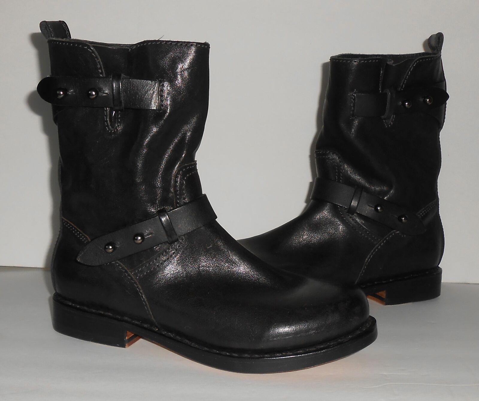 Rag & Bone tobillo botas cuero de moto de cuero botas Talle 36 3d5fa3