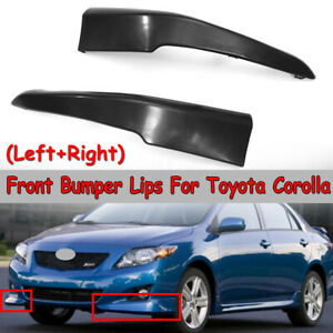 2010 Toyota Corolla S >> Details About For 2009 2010 Toyota Corolla S Style Front Lower Body Kit Bumper Lips Spoiler