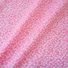 Stoff Meterware Baumwolle Popeline Blumen Mille Fleur geblümt rosa weiß Blüten