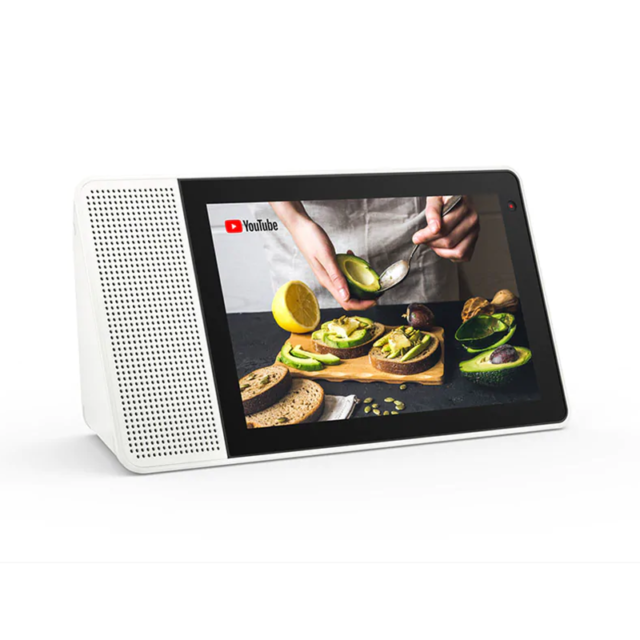 """Lenovo 10"""" Smart Display Google Assistant - White Front/Bamboo Back SD-X701B"""