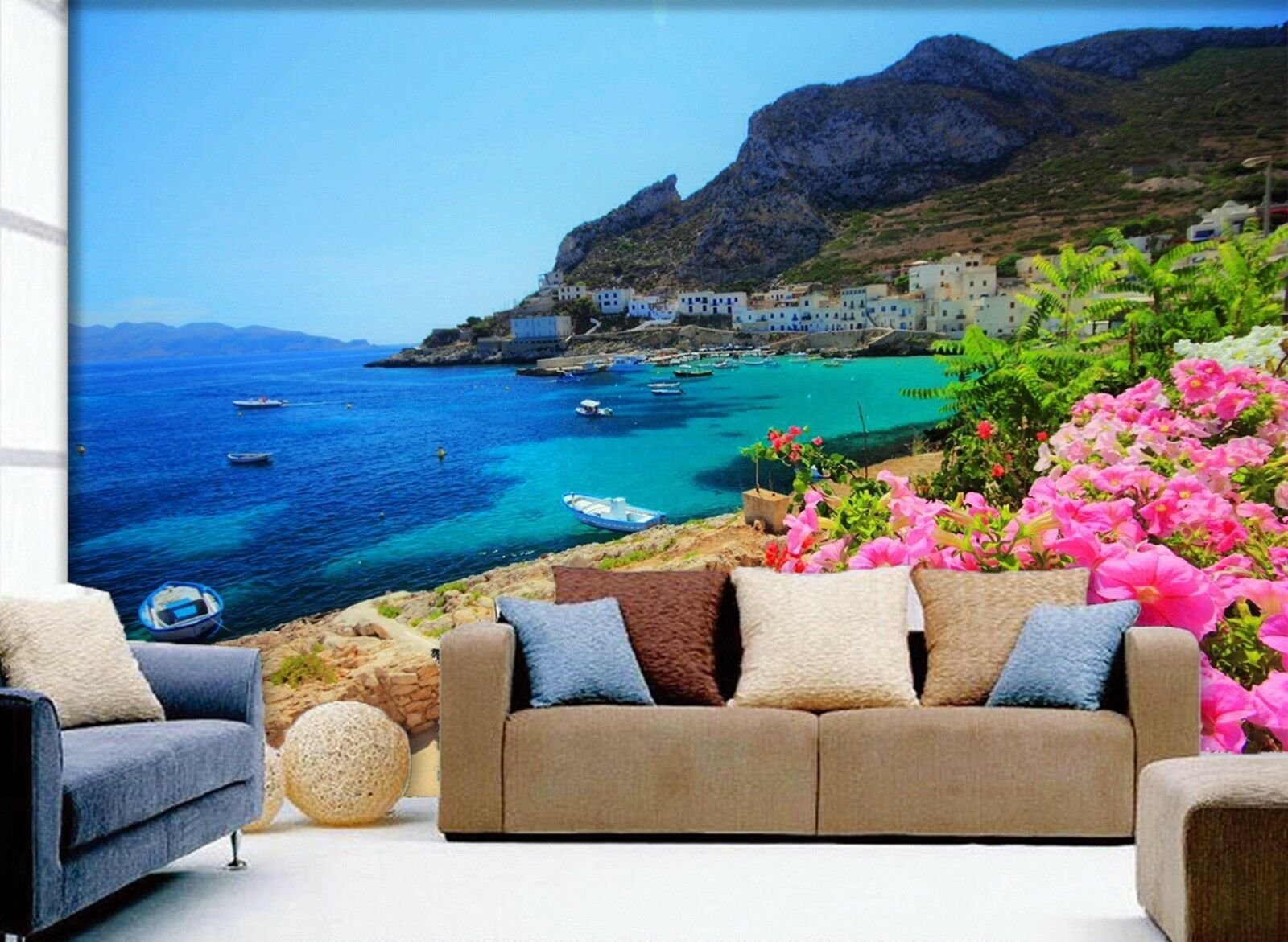 3D Insel Blaumen Strand Strand Strand 8732 Tapete Wandgemälde Tapeten Bild Familie DE Lemon | Ausgezeichnete Qualität  | Verschiedene Arten und Stile  | Bekannt für seine hervorragende Qualität  2e9b36