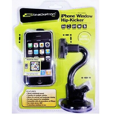 Bracketron IPW-214-BL iPhone 3 Car Belt Clip Table Stand Rotating Window Mount