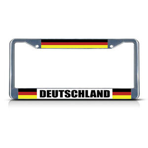 GERMANY-GERMAN-DEUTSCHLAND-COUNTRY-Metal-License-Plate-Frame-Tag-Border