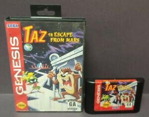 Taz-in-Escape-From-Mars-Sega-Genesis-Rare-Game-Tested-Box-Cover-Art