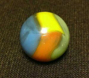 """UV SPIDERMELON PELTIER OR / Easter EGG Vitro Agate 4 Color VINTAGE Marbles .59"""""""