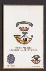 Military-Somerset-Light-Infantry-Arms-amp-Badges-Gale-amp-Poulden-PPC