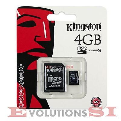 TARJETA MEMORIA KINGSTON 4 GB CLASS CLASE 10 MICRO SD ORIGINAL MICROSD 4GB