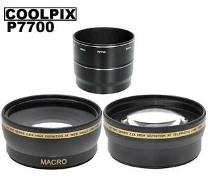 XitPro-0-43x-Wide-Angle-Lens-amp-2-2x-Telephoto-Lens-for-Nikon-Coolpix-P7700-P7800