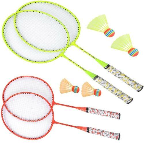 2 Player Children Badminton Set With Badminton Racket Shuttlecock Garden Game