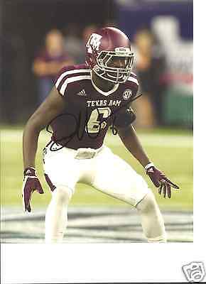 Football Well-Educated Donovan Wilson Texas A&m Aggies Signed 8x10 Photo W/coa #2