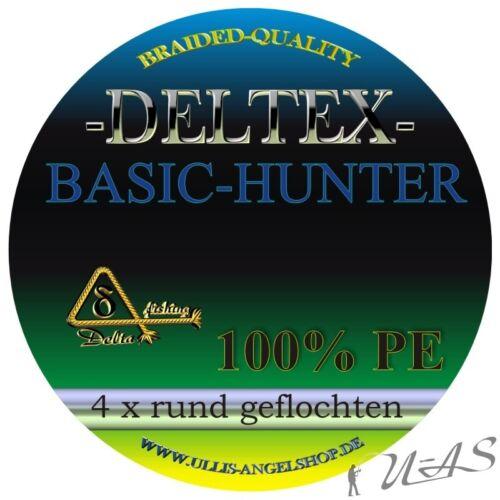 Deltex Basic Hunter Grün 0,35mm 20.50Kg 270M Rund Geflochtene Angelschnur Kva
