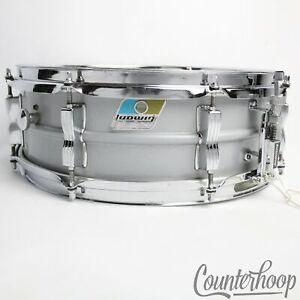 Ludwig-14x5-034-Acrolite-Snare-Drum-Vintage-80s-Baked-Aluminum-Shell-8-Lug-Chicago