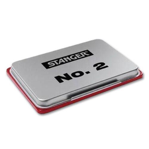 Format 7 x 11 cm Stempelkissen Metallgehäuse rot Stanger Nr.2
