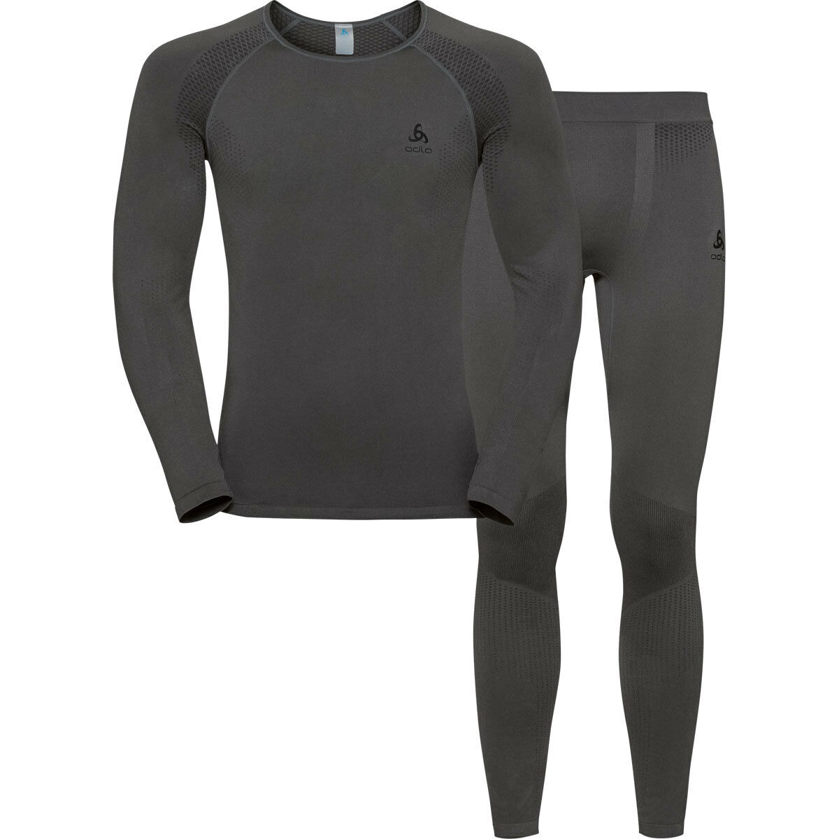 ODLO sotto lavaggi Set Maglietta E Pantaloni Pantaloni Pantaloni Per Uomo GrigioNero   19428210493 4a7