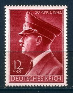 DR-Nazi-3rd-Reich-Rare-WW2-Stamp-Hitler-Head-Red-Fuhrer-Birthday-Nazi-Uniform