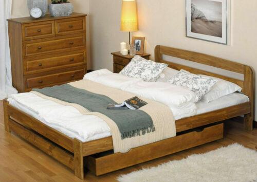 Solid Pine White Grey Oak Walnut Drawer Under Bed Storage with Wheels Castors