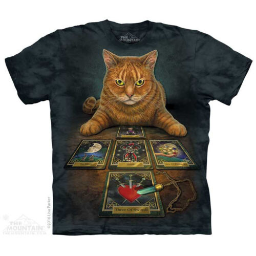 Fantasy Pets Cats Kitten Sizes S-5X NEW The Reader T-Shirt by The Mountain