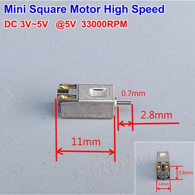 Micro Mini Square DC Motor 3V 3.7V 5V 33000RPM High Speed Motor Diy Parts Toy