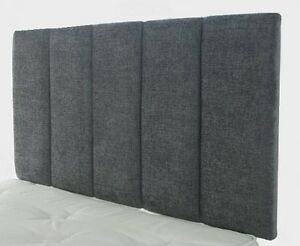 Chenille-Fabric-Headboard-Bed-Head-3FT-Single-4FT6-Double-5FT-Kingsize-26-034-HIGH