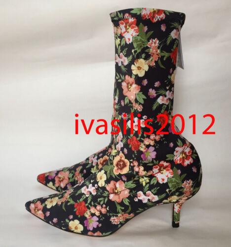 1113//201 Zara Nouvelle Femme Floral Tissu Bottines à talon haut 35-41 ref