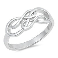 Sterling Silver Double Infinity Symbol Fashion Ring