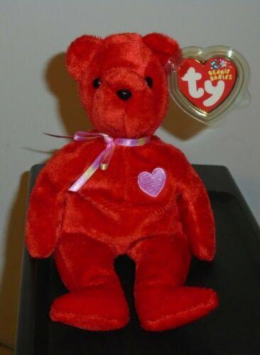 8 Inch Internet Exclusive Ty Beanie Baby ~ KISS-E the Bear MWMT