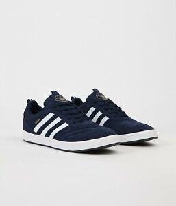 Men-039-s-Adidas-Suciu-Adv-Navy-Suede-Skate-Boarding-Trainers-UK-Sizes-5-5-13-5