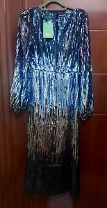 NEW-Rixo-London-Coco-Ombre-Sequin-Dress-Size-XS-XS-Fits-UK-8