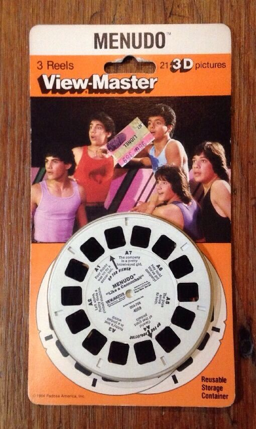 Menudo Like A Cannonball View-Master 3-D Reels 1984 Unopened Cannonball Run