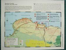 WW2 WWII MAP ~ OPERATION CRUSADER NOV-DEC 1941 BATTLE SITES ARMY RETREAT LIBYA