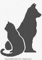 Crochet Patterns - Cat And Dog Graph Afghan Pattern Chart