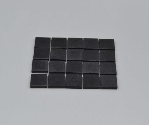 LEGO 20 x Kachel Fliese Platte 2x2 schwarz black slab tile 3068 306826