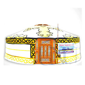 6553a060b20 Image is loading Mongolian-Yurt-Yellow-Canvas-Cover