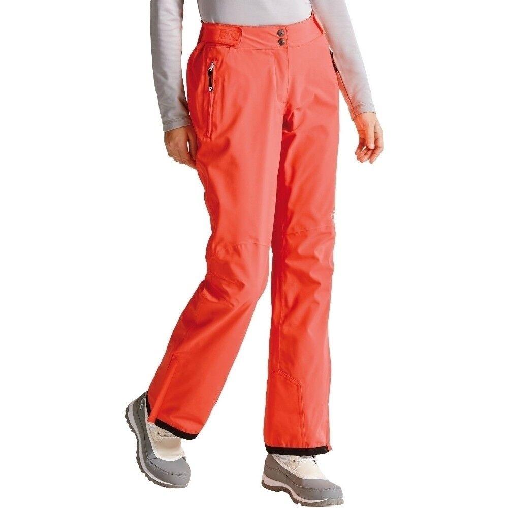 Womens DARE2B STAND II FOR FIERY CORAL orange Stretch Ski Pants SHORT LEG