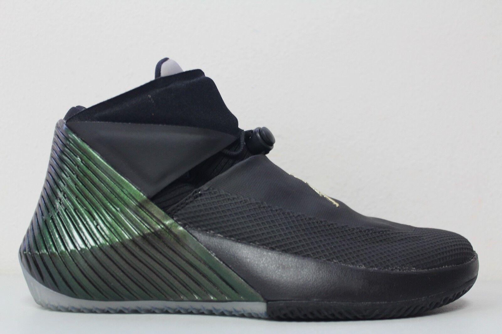 Nike air jordan, perche 'non gli uomini sz 9 blk aa2510-011 verde iridescente campione