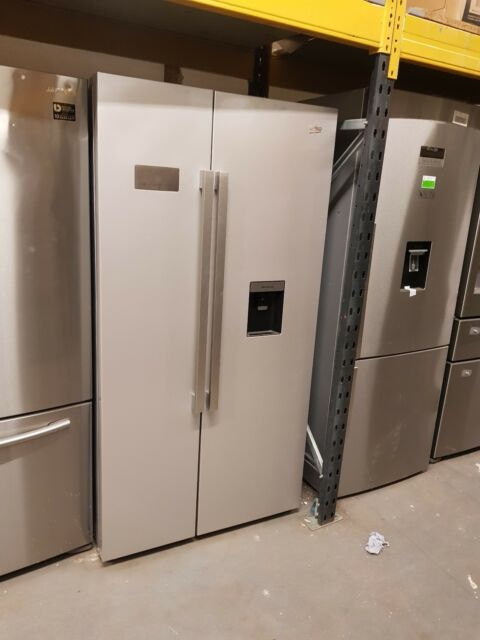 Beko ASD241S Silver American Fridge Freezer With Non-plumbed Water Dispenser